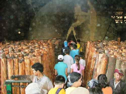 The charcoal factory Kuala Sepetang Matang