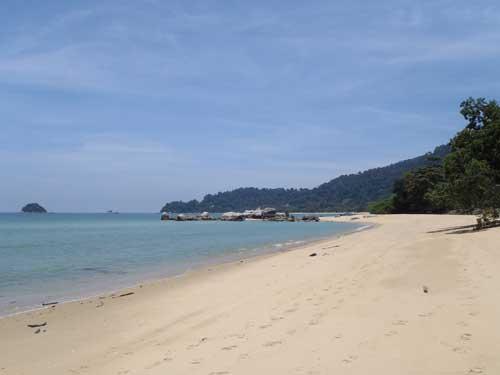 Pasir Bogak beach, Pangkor Island in Perak