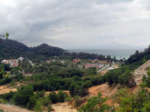 Teluk Batik from above the quarry