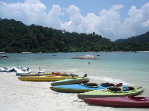 canoeing from Teluk Nipah to Pulau Giam